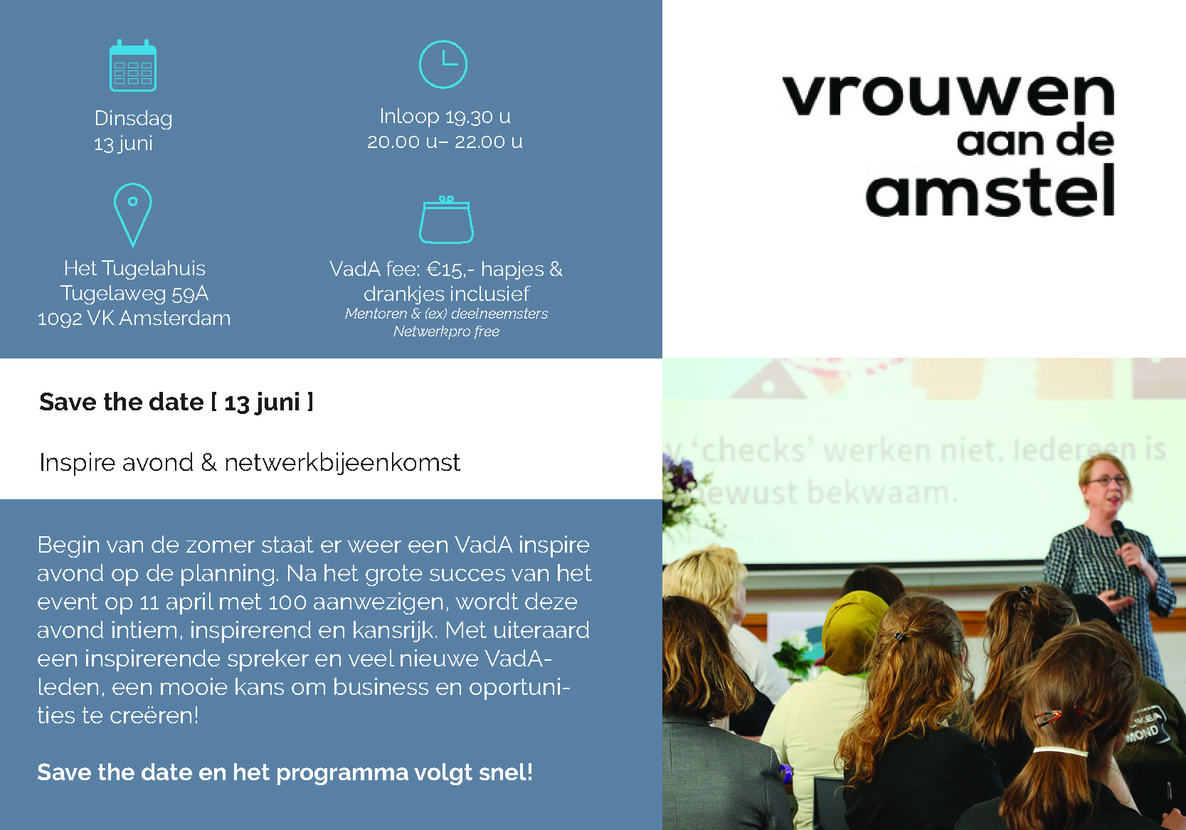 Workshop Save the date 13 juni